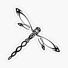 Tribal Dragonfly Stickers Redbubble