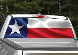 Waving Texas Flag Rear Window Graphic Decal Miller Graphics