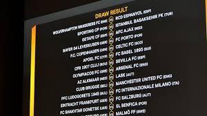Sorteggio sedicesimi: tutte le sfide   UEFA Europa League