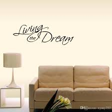 New Style For Living The Dream Wall Decal Removable Stickers Art Vinyl Decor Bedroom Sitting Room Quotes Diy Wall Decals Cheap Wall Decals Deals From Xymy757 9 05 Dhgate Com