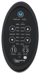 remote control for fan tastic vent