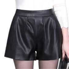 women plus size leather shorts
