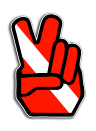 Scuba Diver Down Peace Sign Symbol Sticker Dive Flag Cup Car Window Bumper Decal Decals Stickers Aliexpress