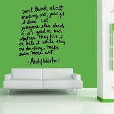 Amazon Com Homedecorstore Wall Vinyl Decal Andy Warhol Quote Art Sticker Mural Giant Hds9923 Home Kitchen