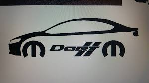 Dodge Dart With Mopar Logo Text Vinyl Sticker Decal