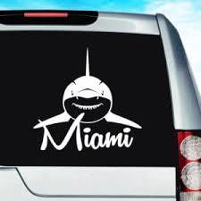 Miami Florida Shark Vinyl Car Window Decal Sticker