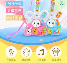 Đồ chơi guitar cho trẻ em có thể chơi Mini phim hoạt hình mô phỏng nhạc cụ  piano với nhạc đàn guitar đồ chơi bé trai và bé gái 3 tuổi in