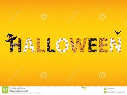 Letras Del Feliz Halloween Vector Palabras Para Las Invitaciones
