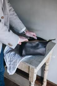 leather toiletry wash bag by saddler