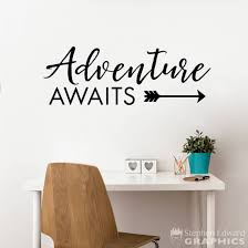 Adventure Awaits Wall Decal Adventure Quote Arrow Decal Stephen Edward Graphics