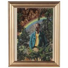 Felix Cole Gouache Illustration of Man with Rainbow | EBTH