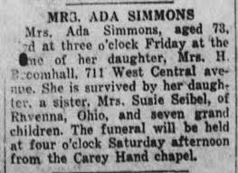 Mrs Ada (Jerome) Simmons obituary - Newspapers.com