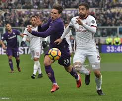 Roland Rodriguez of A.C Milan vies with Federico Chiesa of ACF... News  Photo - Getty Images