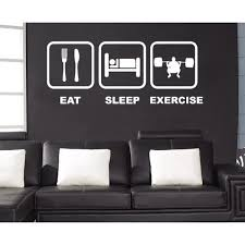 Shop Eat Sleep Exercise Wall Art Sticker Decal White Overstock 11668172