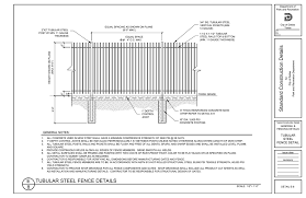 E 8 Tubular Steel Fence Details