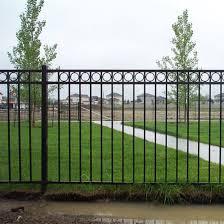 China Aluminum Fence Powder Coated 3 Rail Fence Panel Ornamental Rings Fencing China Fence Panel Picket Fence
