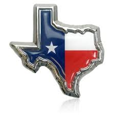 Amazon Com Texas Flag In Shape Of Texas Chrome Metal Auto Emblem Automotive