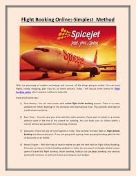 ppt flight booking simplest