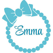 Ribbon Bow Name Ring Wreath Pattern Customized Wall Decal Custom Vinyl Wall Art Personalized Name Baby