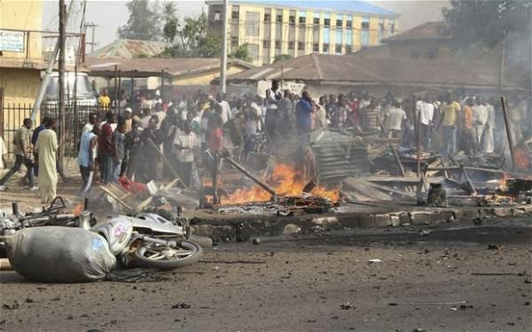 """Image result for Four persons killed, five others sustain injuries in Borno suicide attack"""""""