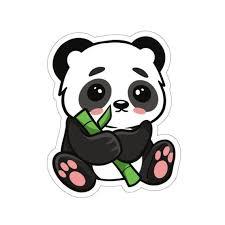 Happy Panda Sticker Baby Panda Laptop Sticker Panda Lover Etsy In 2020 Animal Illustration Kids Cute Stickers Happy Panda