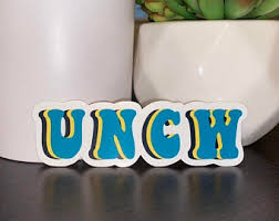 Uncw Decal Etsy