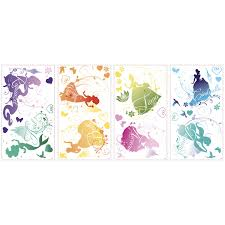 Shop Disney Princess Silhouette Peel And Stick Wall Decals Overstock 8593631
