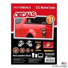 U S Marines Decals Value Pack Car Stickers Decalcomania Wall Palz