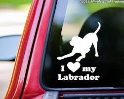 I Love My Labrador Vinyl Decal Sticker 6 X 4 5 Dog Chocolate Yellow Black Lab Playful Minglewood Trading
