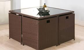 poly rattan garden furniture set groupon