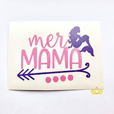 Amazon Com Mer Mama Mermaid Decal Mom Decal For Car Tumbler Cup Or Laptop 3 Inches Handmade