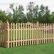 Incredible Wood Picket Fence Panels 3 12 Ft H X 8 Ft W Cedar Spaced French Gothic Fence Panel 63665 Wooden Fence Panels Wood Picket Fence Picket Fence Panels