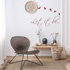Let It Be Wall Sticker Lets Go Love Vinyl Decal Die Cut Art Quote Stickers Lettering Music Room Inspirational Decoration Punk Label Decords Tm