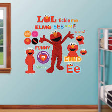 Amazon Com Fathead Elmo Life Size Officially Licensed Sesame Street Removable Wall Decal Home Kitchen
