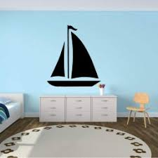 Sailboat Wall Decal Let Vinyl Decor Wall Decal Customvinyldecor Com