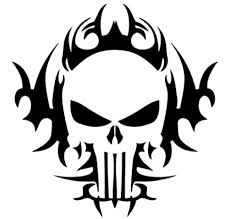 Amazon Com Leon Online Box Skull Punisher Tribal Decal 12cm Black Vinyl Sticker For Car Bike Ipad Laptop Macbook Helmet Home Kitchen