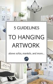 height to hang artwork and mirrors