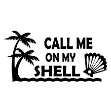 2020 15 7 4cm Call Me On My Shell Decal Be Different Motorcycle Suvs Bumper Car Window Laptop Car Stylings From Xymy787 4 63 Dhgate Com
