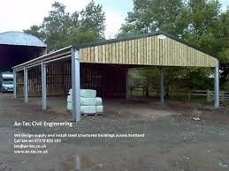 steel framed farm agricultural building