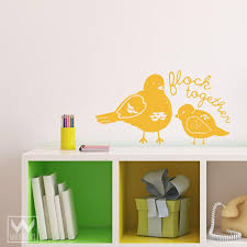 Flock Together Quote Saying Vinyl Wall Sticker Bird Decal Peel And Stick Wallternatives