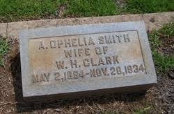 Alice Ophelia Smith Clark (1864-1934) - Find A Grave Memorial