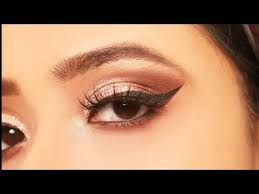 simple easy glittery eye makeup for