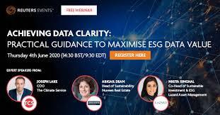 Free Webinar: ESG Data Clarity – Practical Guidance to Maximize ESG Data  Value
