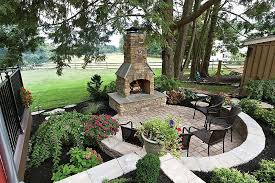 patio outdoor fireplace ideas plans