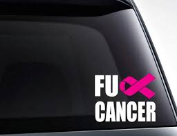Fuck Cancer Cancer Ribbon Vinyl Decal Sticker Etsy