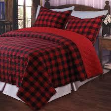 western plaid quilt set plaid bedding