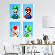 Super Promo D7ae62 Cartoon Animation Super Mario Hd Quality Nursery Kids Room Oil Painting Home Decor Art Print Wall Decor Posters Canvas Painting Cicig Co
