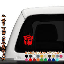 Transformers Inspired Autobot Decal Sticker A Sticky Obsession