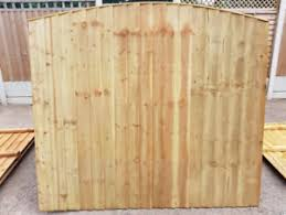 Arch Top Vertical Board Feather Edge Treated Garden Fence Panels Manchester Ebay