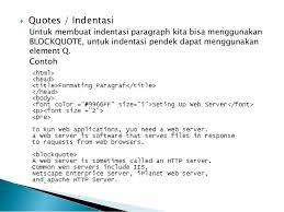 belajar web html modul